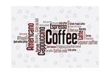 Buy Wordcloud Of Coffee at AllPosters.com
