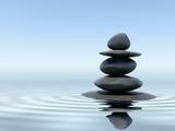 Zen Stones In Water Premium Poster