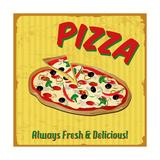 Pizza Vintage Poster Art Print