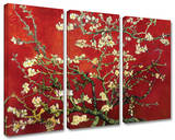 Buy Interpretation in Red Almond Blossom 3-Piece Set at AllPosters.com