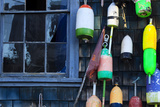 Buy Buoys on an Old Shed at Bernard, Maine, USA at AllPosters.com