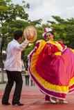 Dancers Entertain a Crowd, Central, Chiapa De Corzo, Chiapas, Mexico