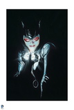 Batman: Catwoman Cover Art Close Up All Black with Face Lit by Diamond She Is Holding