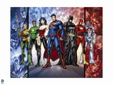 Justice League: Cyborg, Superman, Wonder Woman, Aquaman, Green Lantern, Batman and Flash
