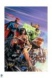 Justice League: Superman, Wonder Woman, Green Lantern, Batman, Aquaman, Cyborg, Batman and Flash
