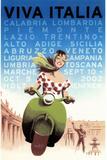 Viva ItaliaRetro Travel Poster