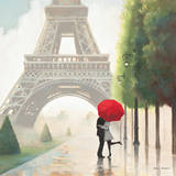 Paris Romance II Art Print