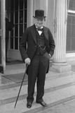 Digitally Restored English History Photo of Winston Churchill