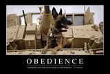Obedience: Inspirational Quote and Motivational Poster