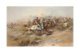 Digitally Restored American History Print of the Battle of Little Bighorn