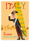 Buy Italy via Jet Clipper - Pan American World Airways at AllPosters.com
