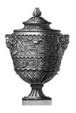 Black and White Urn II