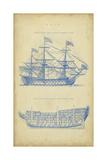 Vintage Ship Blueprint