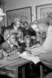 Tuskegee Airmen Group Archival Photo Poster