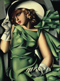 Young Lady with Gloves Giclee Print