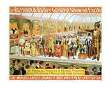 Poster For the Barnum and Bailey Circus
