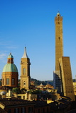 Towers of Torre Degli Asinelli and Torre Garisenda, Bologna, Emilia Romagna, Italy, Europe