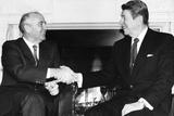 President Ronald Reagan and Mikhail Gorbachev Poster