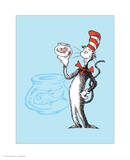 Cat in the Hat Blue Collection I - The Cat in the Hat with Fish (blue) Oh the Places Youll Go The Cat in the Hat (on yellow)