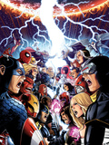 Avengers Vs. X-Men No.1 Cover: Captain America, Cyclops, Emma Frost, Gambit and Others Screaming