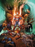 Dark Avengers/Uncanny X-Men: Utopia No.1 Cover: Iron Patriot