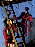 Daredevil No.8 Cover: Daredevil and Spider-Man on the Fire Escape