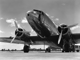 1940s Domestic Passenger Airplane Dual Propeller Landing Gear Photographic Print