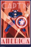 Captain America - Art Deco
