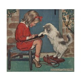 Buy Cat Helping Girl with Homework at AllPosters.com