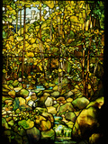 Tiffany Studios Leaded Glass Window of a Woodland Scene