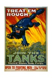 Treat 'Em Rough! Join the Tanks Poster