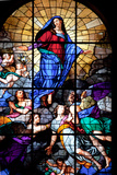 Italy, Milan, Milan Cathedral, Window 45, Assumbtio of the Virgin