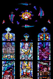 Buy Italy, Milan, Milan Cathedral, Window 7 honoring Cardinals Carlo Ferrari and Alfredo Schuster at AllPosters.com