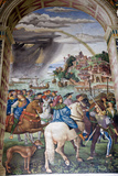 Buy Italy, Siena, Siena Cathedral, Fresco, Aeneas Silvio Piccolomini leaves for the Council of Basel. at AllPosters.com