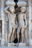 Buy Italy, Milan, Milan Cathedral, Statues and Reliefs. Telamones at AllPosters.com