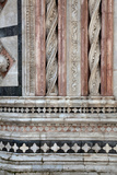 Buy Italy, Siena, Siena Cathedral,  Baptistery Facade, Marble Decorations at AllPosters.com