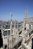 Buy Italy, Milan, Milan Cathedral, Northeastern Roof Top, Spires, Flying Buttresses at AllPosters.com