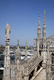 Buy Italy, Milan, Milan Cathedral, Northern Roof Top, Spires, Flying Buttresses, at AllPosters.com
