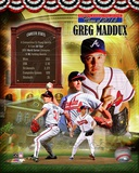 Greg Maddux Atlanta Braves MLB Hall of Fame Legends Composite
