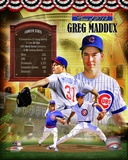 Greg Maddux Chicago Cubs MLB Hall of Fame Legends Composite