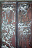 Buy Italy, Siena, Siena Cathedral, Main Facade, Main Door, Bronze Relief, Glorification of the Virgin at AllPosters.com