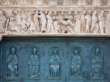 Buy Italy, Siena, Siena Cathedral, Decorated Bronze Door and Sculptured Lintel at AllPosters.com