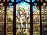 Angel of the Resurrection Stained Glass Window