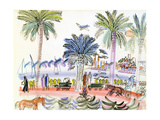 View of Le Suquet, Cannes Giclee Print