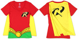 Juniors: Robin - V-Neck Costume Tee with Cape