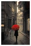 Red Rain Art Print