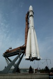 Rocket at the Cosmos Pavilion in Moscow