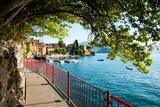 Buy Walkway Along the Shore of a Lake, Varenna, Lake Como, Lombardy, Italy at AllPosters.com