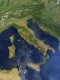 Buy Satellite View of Italy, Sicily, Sardinia and Corsica at AllPosters.com