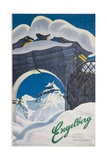 Engelberg Switzerland Travel Poster